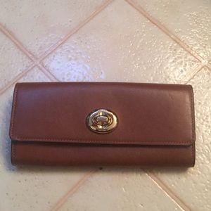Coach leather envelope wallet